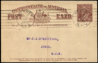 Lot 766 [2 of 6]:1919-20 1½d Brown KGV Sideface With 2-Line Footnote x6, BW #P51, all used in 1919 or 1920, Cat $600. (6)