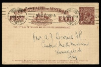 Lot 766 [3 of 6]:1919-20 1½d Brown KGV Sideface With 2-Line Footnote x6, BW #P51, all used in 1919 or 1920, Cat $600. (6)