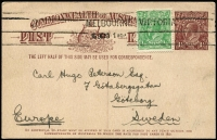 Lot 766 [1 of 6]:1919-20 1½d Brown KGV Sideface With 2-Line Footnote x6, BW #P51, all used in 1919 or 1920, Cat $600. (6)