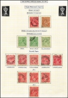 Lot 563 [2 of 5]:Mainly Used Collection on well written up leaves, appears complete at the wmk level including perf 'OS' so includes 1/4d SMW P14 normal & 'OS', a few of the early CTOs and some of the 1d red shades and varieties are missing, otherwise largely intact. Good value at estimate. (100s)