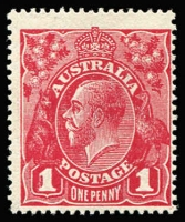 Lot 693:1d Deep Carmine-Rose Harrison Printing Wmk Inverted BW #74Ba, fine mint, Cat $2,500 (SG #50aw, Cat £1,400).