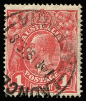 Lot 180:1d Brown-Red (G32) Smooth Paper BW #71W, fine used with 19JE18 datestamp, Cat $150. Drury Certificate (2016).