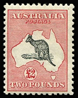 Lot 558:£2 Grey-Black & Crimson BW #58B, well centred, fresh colours, MVLH, Cat $4,500.