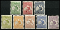 Lot 502 [2 of 2]:½d to 9d simplified set, mostly well centred, 2d MUH marginal with Wmk inverted, fine mint overall, Cat $2,000+. (9)
