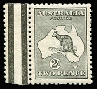 Lot 502 [1 of 2]:½d to 9d simplified set, mostly well centred, 2d MUH marginal with Wmk inverted, fine mint overall, Cat $2,000+. (9)