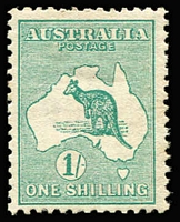 Lot 512:1/- Green BW #30, well centred, fine mint, Cat $325.