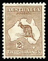 Lot 514:2/- Brown BW #35, fine mint, well centred with good perfs, Cat $650.