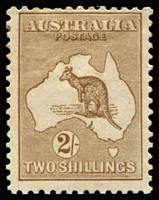 Lot 559:2/- Light Brown BW #36, Cat $1,500.