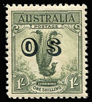 Lot 755 [1 of 2]:Overprinted 'OS' Issues complete, ex 2d & 3d Kingsford Smith, to 1/- Lyrebird. Very fresh, most MUH incl 1/- Lyre. Retail $750+. (13)