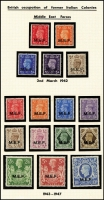 Lot 1408 [2 of 9]:T1942-51 All Colonies all MUH, MEF 1942 M1 ovpt set of 5, 1943-47 set of 11; Eritrea 1948-49 BMA set of 13, 1950 BA set of 13, 1951 set of 7; Somalia 1943-46 EAF set of 9, 1948 BMA set of 11, 1950 BA set of 11; Tripolitania 1948 BMA set of 13, 1950 BA set of 13, 1951 set of 8. Plus all Postage Due sets. Total Cat £1,000+. (116)