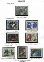Lot 37 [3 of 6]:France 1937-2001 Large Format Stamps beginning with pristine MUH 1937 Paris Exhibition M/S, then mainly used collection, with 1964 Paris Exhibition sheetlet with first day cancel. Appears complete and therefore includes all the fabulous art stamps. (100s)