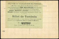 Lot 1158 [1 of 2]:PPC of 15c French Congo Stamp: used as a 1910 raffle ticket receipt, raising money for a Sanatorium.