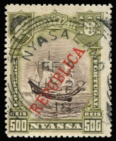 Lot 1382 [1 of 4]:1918 Nyasaland Field Force set of 4 1911 Nyassa stamps cancelled with 'NYASALAND/FF2' with various 1918 dates, applied at Mtangula. Only 207 sets produced. Plus MNG Laurenco Marques surcharged and optd for Kionga with ½c, 1c & 2½c singles and 5c block of 4. Also mint Belgian Congo GEA Occupation issues with 1916 set of 8, 1918 'AO' issue set to 1f, 1922 Surcharges set of 5. (27+1 block)