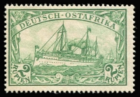 Lot 1505 [1 of 5]:1905-20 Yacht Wmk Lozenges set of 11, with lower 4 values being in blocks, Mi #30-39, Cat €170+. Plus selection of mainly mint IEF issues, includes ½a strip used at Mombasa. (13+10 blks + pcard+cvr)