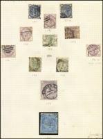 Lot 446 [2 of 6]:1840s-1970s Collection of mainly used definitives, beginning with imperf 1d & 2d Stars and perf 1d Stars, followed by nice range of middle-QV period with many plate numbers to 2/- blue, later QV includes nice 1883 10/- pale ultramarine, usual colour issues with fugitive inks, in later issues noted Re-engraved Seahorses to 10/-, KGVI high values complete, QEII Castles complete sets of 4. Good range of Postage Dues, finishing with some Channel Islands and Regionals. Good range of shades and a few watermark varieties throughout. Minor group of British Commonwealth at end of collection. Useful collection. (100s)