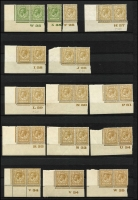 Lot 1502 [2 of 7]:KEVII-KGV Controls large collection of mainly corner pairs with almost no duplication, at least 262 different controls Total Cat well in excess of £2,500. (270+)