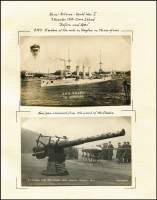 Lot 124 [3 of 9]:1914 HMAS Sydney & SMS Emden At Cocos Island A great PPC and photo collection of the ships and men involved in this key early battle. Most cards are English and German there are a few Australian cards. Included in this collection are a number of cards detailing the escape of Mücke and some men from Direction Island back to Germany. Includes a few cinderellas. A lovely collection about this early and decisive Australian victory. (73 items)