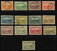 Lot 1307 [2 of 2]:1939 Bulolo Airs ½d to £1, SG #212-25, fine used, Cat £850. (14)