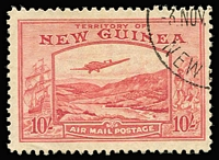 Lot 1307 [1 of 2]:1939 Bulolo Airs ½d to £1, SG #212-25, fine used, Cat £850. (14)