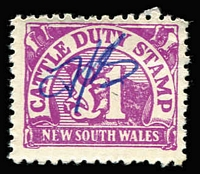 Lot 939 [1 of 2]:1951 Cattle Duty: 1d to £1 (1d to 2/- x2), used. Plus 1929-66 9d, 1/- & 2/- Swine Duty. (18)