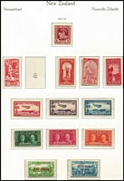 Lot 1364 [2 of 7]:1915-67 Mint Simplified Collection largely complete excluding Postal Fiscals, includes officials etc, nicely housed in Ka-Be hingeless pages. Noted Dunedin set, 2/- & 3/- Admiral and 2/- Admiral Official, Smiling Boys, 1935 Pictorials & Officials, Health Sheetlets from 1957 onwards, 2d on 1½d Stars. Very nice group. Total Cat £1,800+. (100s)