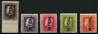 Lot 1399 [2 of 2]:1915 KGV Recesss: 3d to 1/- simplified set, all but 9d MUH. (6)