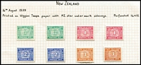 Lot 1408 [2 of 3]:1939-49 New Designs 1939 set x2, 1945-49 set of 3 with extra 3d, SG #D41-7a, Cat £150+. (12)