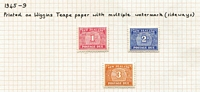Lot 1408 [3 of 3]:1939-49 New Designs 1939 set x2, 1945-49 set of 3 with extra 3d, SG #D41-7a, Cat £150+. (12)
