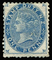Lot 1410:1882 Small Stamps 1d blue, SG #F2, MNG, Cat £475