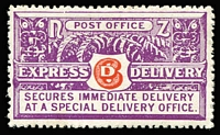 Lot 1405 [1 of 2]:1903-39: complete SG #E1-E6, Cat £448; as well-centred and fresh as we have seen with only the 1939 Delivery Van noticeably off-centre high. The 1937-39 Wiggins Teape thin hard paper issues (SG #E4-5), missing in many collections. (6)