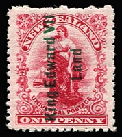 Lot 1459:1908 King Edward VII Land 1d rose-carmine (Royle plate), SG #A1, MUH, Cat £475.