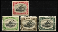 Lot 1230 [2 of 2]:1907-10 Small 'PAPUA' Perf 11 1d & 2½d wmk upright & ½d, 4d & 6d wmk sideways all with Rift flaw, SG #49,51,59,63,64, Cat £150+. (5)