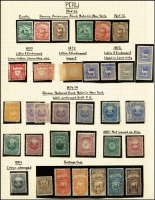 Lot 1481 [3 of 13]:1857-1958 Comprehensive Collection in luxurious boxed SG 'Philatelic Album' (Retail £325), nearly complete, minimal duplication, mixed mint & used. Includes 1857 1r blue 4-margin MNG, 1858 ½p orange-yellow used, 1866 Vicuna proof set of 3, 1861 Lima UPU set of 6 mint. 1883 Horseshoe set, plus imperf set in pairs (2c is single), good range of 1883-84 triangle ovpts. Good selection of Civil War issues incl Arequipa 5s yellow block of 8, 20c carmine 'PIURA/VAPORE' mint. Later issues include 1899 10s blue-green Liberty mint x2, 1899 10s purple-brown PDue mint & used, 1907-09 Pictorial set mint, 1925 2c on 20c type II mint. Includes hundreds of specimens, many overprint varities. SG (2008) Cat significantly over £15,000!!. (1,000s)