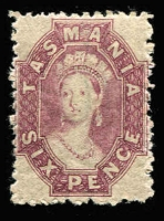 Lot 1189 [2 of 2]:1871-91 Chalon Wmk Double-Lined Numeral Perf 11½ 6d bright violet P11½ & 6d dull claret P12, SG #138,143, strong colours, large-part gum, usual rough perfs, Cat £250 (2)