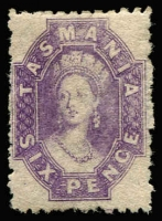 Lot 1189 [1 of 2]:1871-91 Chalon Wmk Double-Lined Numeral Perf 11½ 6d bright violet P11½ & 6d dull claret P12, SG #138,143, strong colours, large-part gum, usual rough perfs, Cat £250 (2)