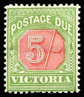 Lot 1251 [1 of 2]:1895-1909 Red & Green ½d to 5/- simplified set, ex 2/-, large-part gum. (9)