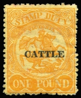 Lot 1254 [1 of 2]:Cattle Duty: used 2d to £1 simplified range, plus MUH decimal 2c to $10 (30)