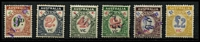 Lot 1255 [3 of 3]:Relief Tax: used 1d to 12d simplified range (12d emerald x2, sage-green x1) & 1936 Not Transferable 8d red & blue. Plus small Tax Instalment range of 9d to £2. (18)