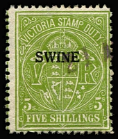 Lot 1256 [1 of 3]:Swine Duty: used 1d to 5/- simplified range, plus MUH decimal 2c to $1 (30)