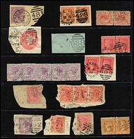 Lot 1025 [2 of 4]:Barred Numeral Duplex Collection including [Rated R] '433'(2), [Rated SS] '11'(7), [Rated 'S'] '296'(4) x2; many on multiples or pieces, minor duplication. (230)