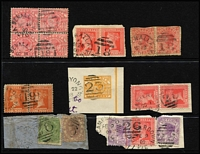 Lot 1025 [3 of 4]:Barred Numeral Duplex Collection including [Rated R] '433'(2), [Rated SS] '11'(7), [Rated 'S'] '296'(4) x2; many on multiples or pieces, minor duplication. (230)