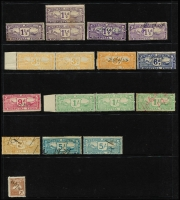 Lot 1279 [2 of 2]:Hospital Fund: 1930 Issue 1d x5 (mint x3), 3d x3 (mint x2), 6d, 9d, 1/- x3 (mint x2), 2/- & 5/- x3. Plus 1940 2/- Nurse. (18)