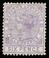 Lot 1291 [1 of 2]:1879 1d bistre & 6d violet, both P14, SG #T1-2, fine used, Cat £240+. (2)