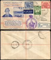Lot 956 [1 of 4]:Royal Geographical Society 1946-50 Selection with 9 different, including Cook registered at Proserpine, others with a good variety of cachets. Condition generally good. (13)