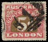 Lot 1107:1912 3rd Series 5d P13½, Elsmore Online Cat $100, appears to be much harder.