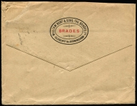 Lot 1109 [2 of 2]:1923 5th Series Perf 11¾ 1/-, 9d & ½d on face of c.1953 normal-size cover from GB to Sydney. A very high rate for a cover of this size. Presumably the contents were some other dutiable object rather than advertising.