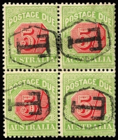 Lot 875 [1 of 7]:1902 to 1950s used collection mounted on pages and organised by issue, wmk & perforation, many blocks, some large, giving plenty of plating and variety potential, predominantly cds cancels mainly from WA. Noted 4d Void Base block of 6, 5d Complete Design blocks of 6 & 4 x3, 1908 1/- strip of 3, 1909 Thick Paper 6d block of 16, 1/- blocks of 10 & 6, 5/- block of 4, 1913 Thin Paper 3d block of 6, 1/- strip of 4, 1915 3rd Wmk 3d blocks of 10 x3 & 6, CofA 2d P11 blocks of 50, 43, 25 & 15, 4d P11 blocks of 30 x4, 27, 24 x2, 18, 17, 15, 12, 6x2. (100s)