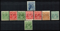 Lot 282 [4 of 10]:1913-65 with small duplication in large stockbook, incl Roos 1st wmk ½d to 6d, 3rd Wmk 3d & 9d, KGV single wmk ½d to 1/4d, SMW P14 ½d to 4½d, SMW P13½x12½ ½d to 4d, CofA ½d to 5d, then on fairly complete, though missing the high-values, with 3d Kooka M/S, 10/- Robes, Navigators set of 6. Generally good quality stamps, however some wmks are not identified properly. Excellent value. (100s)
