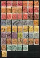 Lot 167 [4 of 11]:1913-87 Collection with small duplication in large stockbook, incl Roos 1st wrnk ½d to 1/-, 2nd Wmk 2d to 2/-, 3rd Wmk 2d to 10/-, SMW 6d to 5/-, CofA 9d to 10/- plus Specimen set, KGV single wmk ½d to 1/4d, SMW P14 ½d to 1/4d, SMW P13½x12½ ½d to 1/4d, CofA ½d to 1/4d, then on nearly complete, with 3d Kooka M/S red & blue cancels, KSmith OS CTO pair, 5/-. Bridge commercially used, thick & thin paper Robes, Navigators set of 8, BCOF set of 8, 5c on 4c booklet pane set of 6. Generally good quality stamps, however some wmks are not identified properly. Plus a few mint Roos & KGV. Excellent value.