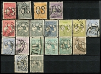 Lot 167 [6 of 11]:1913-87 Collection with small duplication in large stockbook, incl Roos 1st wrnk ½d to 1/-, 2nd Wmk 2d to 2/-, 3rd Wmk 2d to 10/-, SMW 6d to 5/-, CofA 9d to 10/- plus Specimen set, KGV single wmk ½d to 1/4d, SMW P14 ½d to 1/4d, SMW P13½x12½ ½d to 1/4d, CofA ½d to 1/4d, then on nearly complete, with 3d Kooka M/S red & blue cancels, KSmith OS CTO pair, 5/-. Bridge commercially used, thick & thin paper Robes, Navigators set of 8, BCOF set of 8, 5c on 4c booklet pane set of 6. Generally good quality stamps, however some wmks are not identified properly. Plus a few mint Roos & KGV. Excellent value.